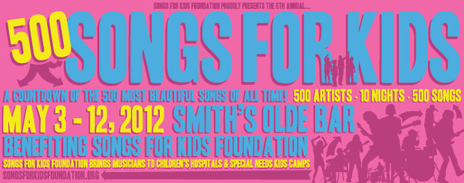 500 Songs For Kids Night Five Announces Lineup! Sonia Leigh, Yacht Rock Schooner, Rick Brantley & More!