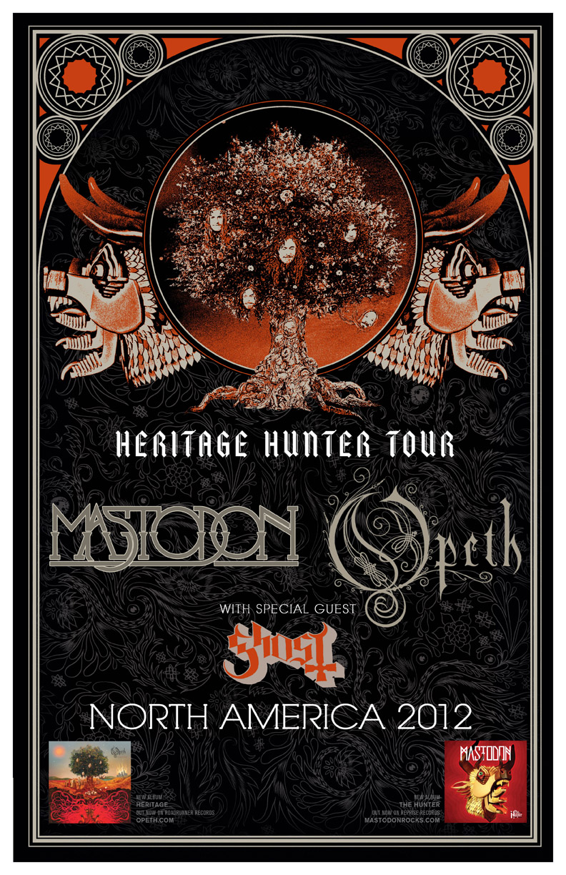 Win Tickets & Autographed Tour Poster! Mastadon & Opeth @Masquerade Music Park May 12th