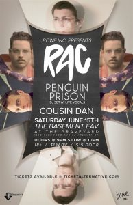 Interview: RAC & Penguin Prison; Playing @ The Basement June 15th!